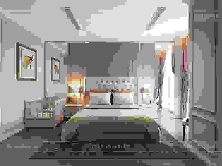 Thiết kế căn hộ Gateway Thảo Điền sang trọng và thanh lịch – Phong cách Tân Cổ Điển Phòng ngủ phong cách kinh điển bởi ICON INTERIOR Kinh điển