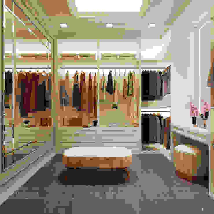 Thiết kế căn hộ Gateway Thảo Điền sang trọng và thanh lịch – Phong cách Tân Cổ Điển Phòng thay đồ phong cách kinh điển bởi ICON INTERIOR Kinh điển