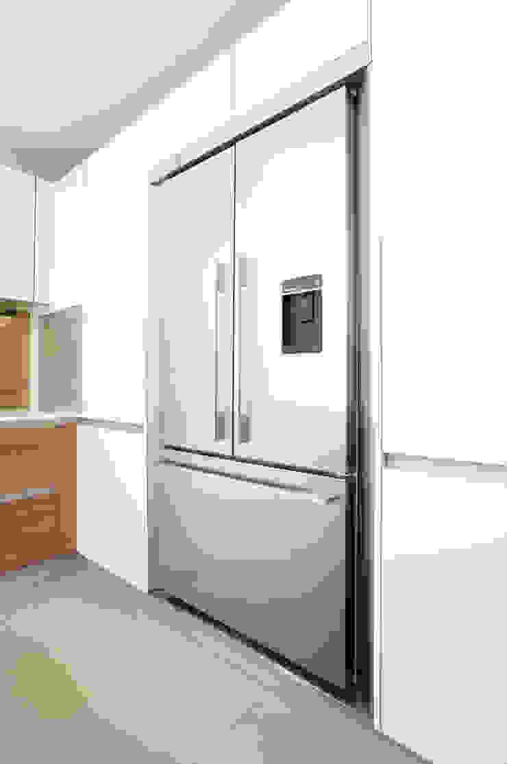 Urban Life Old America & Glass Edge Gloss White Urban Myth Built-in kitchens White
