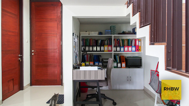 Modern Study Room and Home Office by RHBW Modern