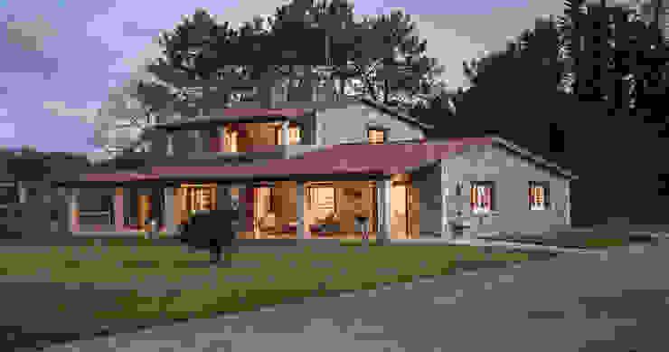 CHALET EN LUBRE MORANDO INMOBILIARIA Casas de estilo rústico