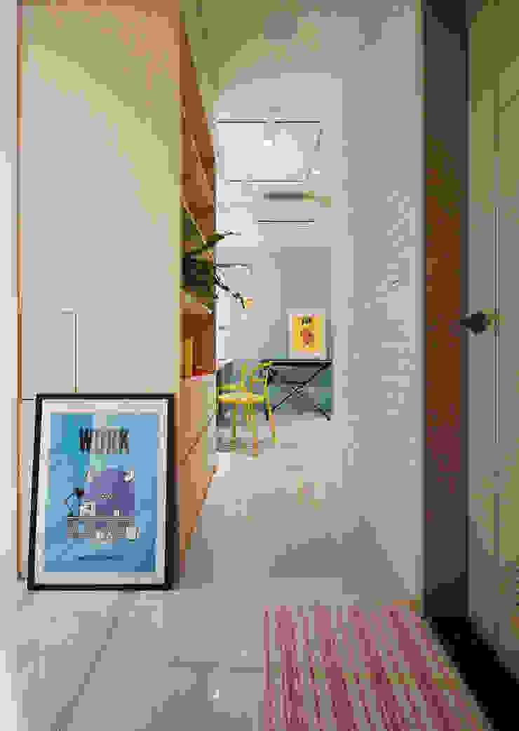開放的走廊 根據 一葉藍朵設計家飾所 A Lentil Design 北歐風 合板