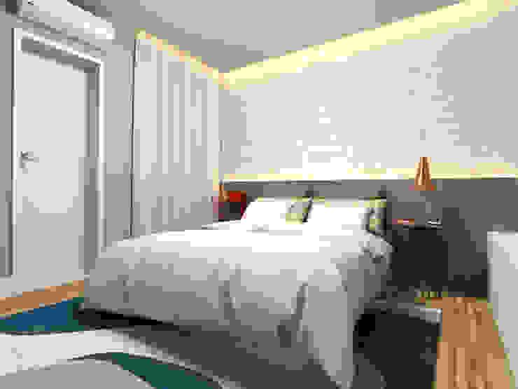 Karen Oliveira - Designer de Interiores СпальняЛіжка та спинки MDF Сірий