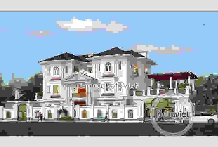 Phối cảnh mẫu thiết kế biệt thự 3 tầng Tân cổ điển đẹp lung linh (CĐT: Ông Thắng - Quảng Ninh) bởi Công Ty CP Kiến Trúc và Xây Dựng Betaviet