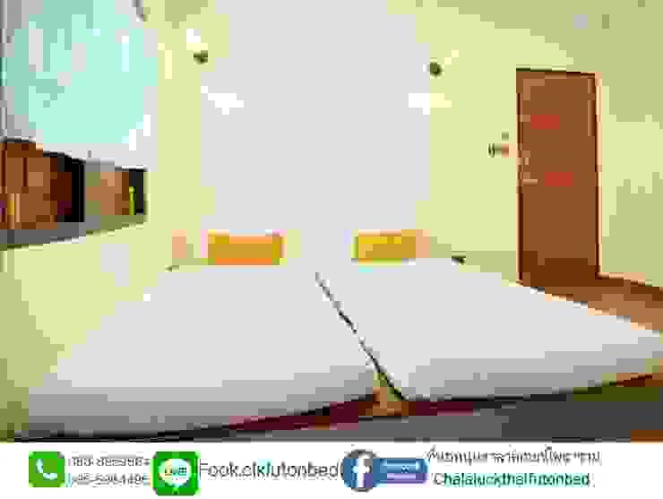 ที่นอนพับ ที่นอนพับสามตอน 3 fold futon bed : ที่เรียบง่าย  โดย chalaluck, มินิมัล