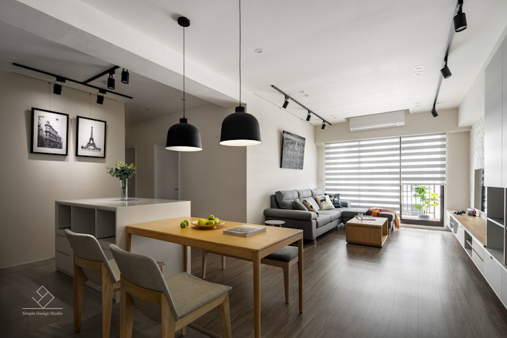 中島 Scandinavian style dining room by 極簡室內設計 Simple Design Studio Scandinavian MDF