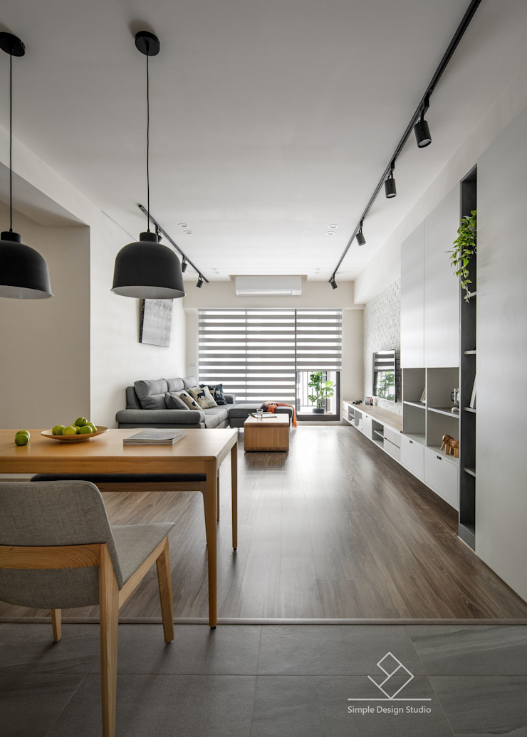 餐廳 Scandinavian style dining room by 極簡室內設計 Simple Design Studio Scandinavian Wood-Plastic Composite