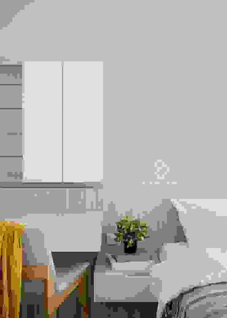 Scandinavian style bedroom by 極簡室內設計 Simple Design Studio Scandinavian MDF