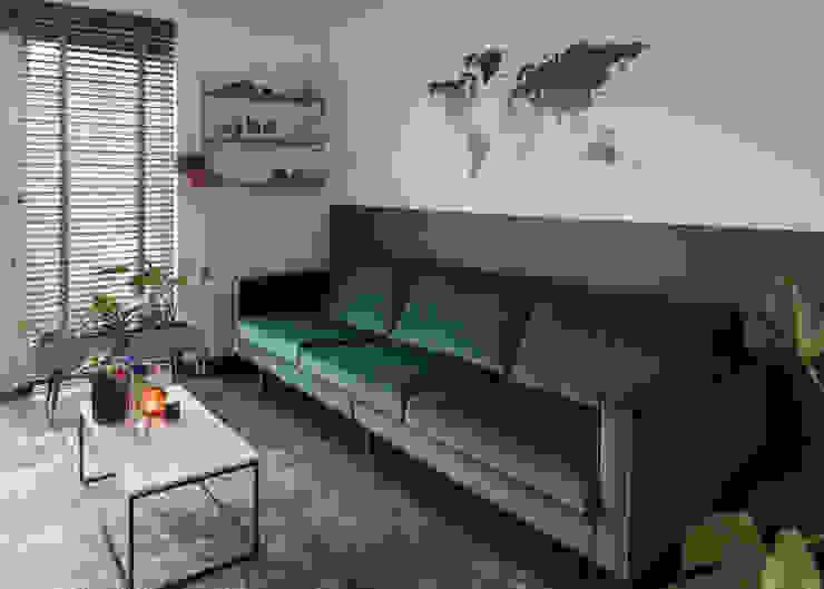 Interieurstyling woonkamer en keuken in Haarlem Studio Mind Moderne woonkamers Groen
