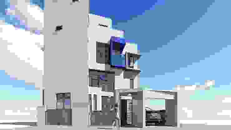 頭份徐宅 圍牆設計 現代房屋設計點子、靈感 & 圖片 根據 曾聖傑建築師事務所 現代風