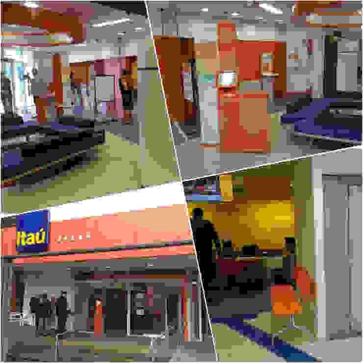 Karen Oliveira - Designer de Interiores Oficinas y Tiendas Concreto Naranja