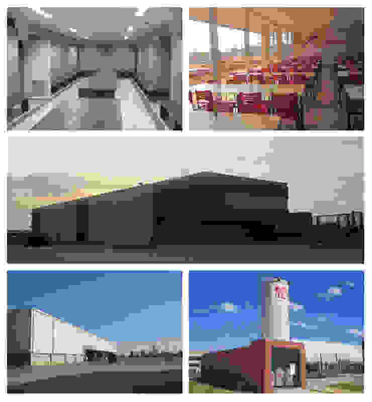 Karen Oliveira - Designer de Interiores Industrial style office buildings Concrete Red