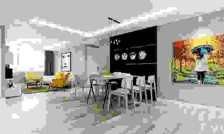 thiết kế Căn hộ sang trọng, thiết kế nội thất hiện đại, tinh tế. Phòng ăn phong cách hiện đại bởi CÔNG TY THIẾT KẾ NHÀ ĐẸP SANG TRỌNG CEEB Hiện đại