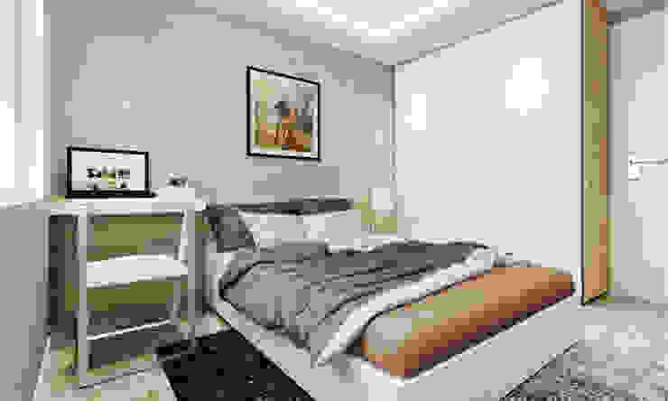 thiết kế Căn hộ sang trọng, thiết kế nội thất hiện đại, tinh tế. Phòng ngủ phong cách hiện đại bởi CÔNG TY THIẾT KẾ NHÀ ĐẸP SANG TRỌNG CEEB Hiện đại