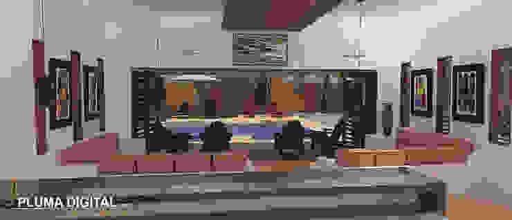 Modern Living Room by PLUMA DIGITAL SAS. Modern