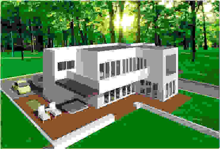 VU – 5 – VIVIENDA RESIDENCIAL UNIFAMILIAR Casas modernas de RR Arquitecto Moderno