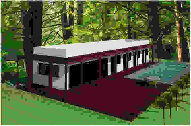 C – 2 – POSADA TURISTICA Casas modernas de RR Arquitecto Moderno