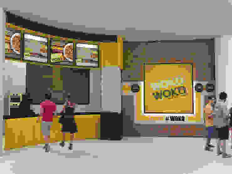 Woko Woko Gastronomía de estilo industrial de Diseñador Paul Soto Industrial Aluminio/Cinc