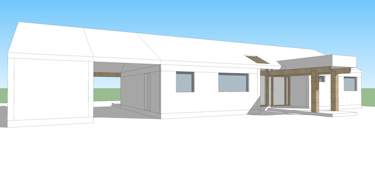 Proyecto Casa (Extendida) 150m2 de Constructora Rukalihuen Moderno Madera Acabado en madera