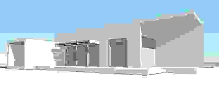 Proyecto Casa (Moderna o Mediterránea) 150m2 de Constructora Rukalihuen Moderno Madera Acabado en madera