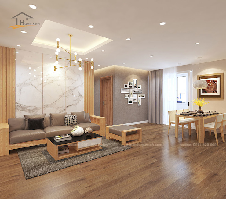 Thiết kế nội thất căn hộ chung cư tại CT3 Trung Văn bởi THIẾT KẾ HOMEXINH Hiện đại
