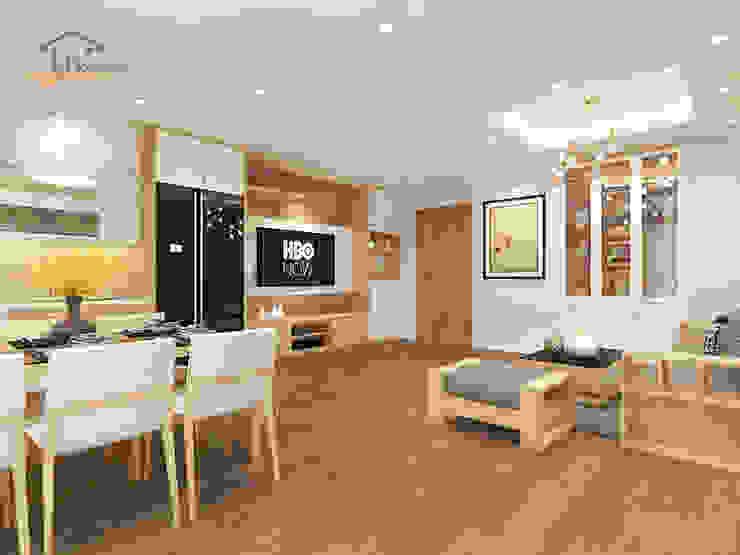 Thiết kế nội thất căn hộ chung cư tại CT3 Trung Văn Phòng ăn phong cách hiện đại bởi THIẾT KẾ HOMEXINH Hiện đại