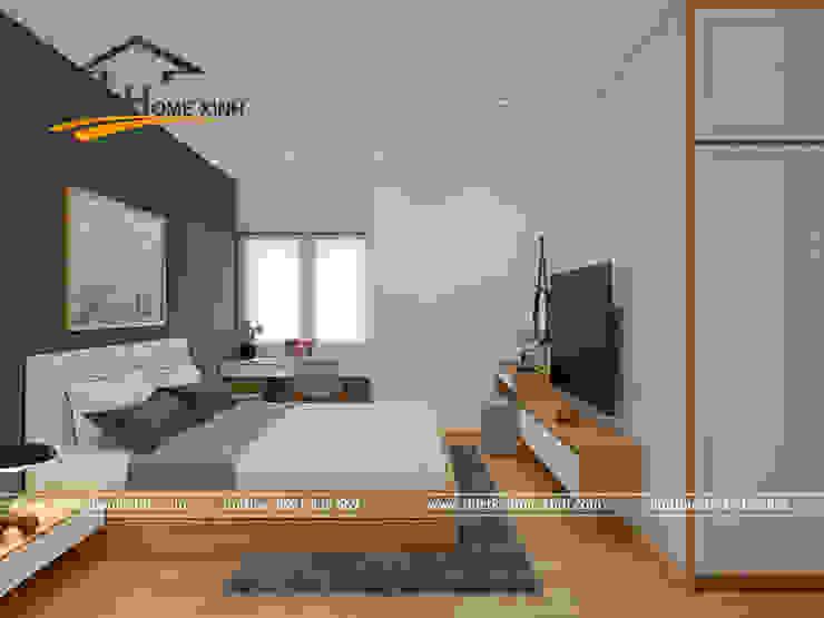 Thiết kế nội thất căn hộ chung cư tại CT3 Trung Văn Phòng ngủ phong cách hiện đại bởi THIẾT KẾ HOMEXINH Hiện đại