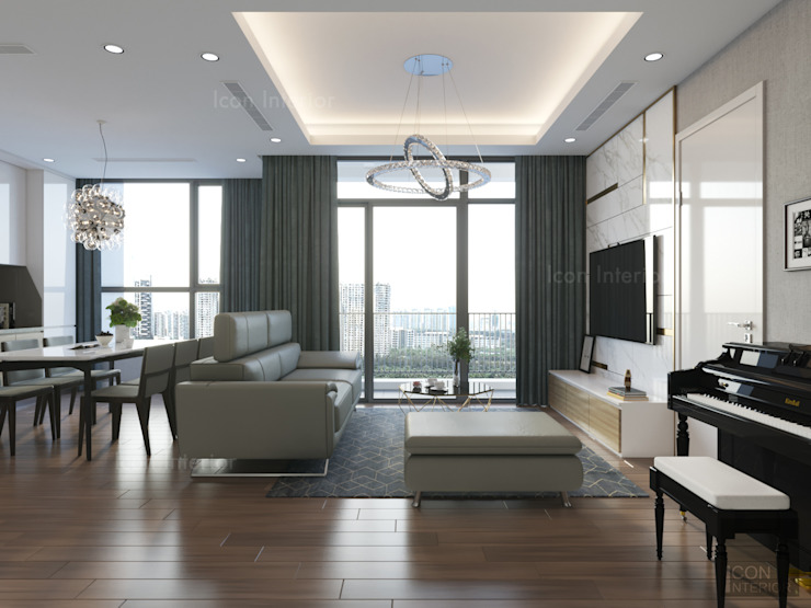 Phong cách hiện đại tại căn hộ Vinhomes Central Park đơn giản mà sang trọng bởi ICON INTERIOR Hiện đại