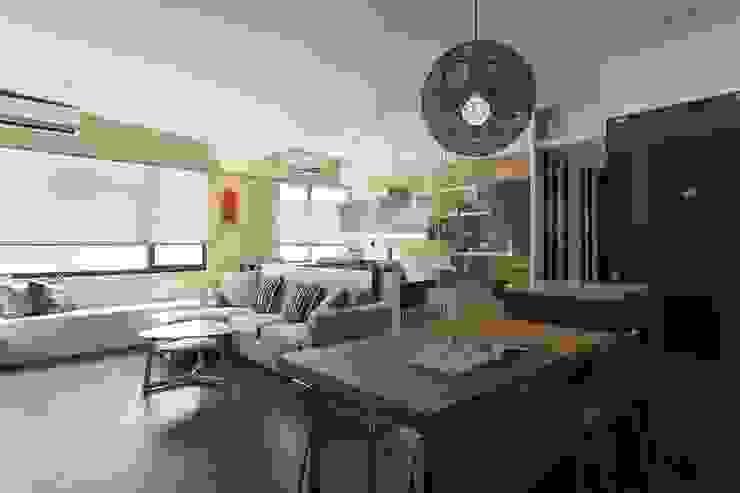 客餐廳和書房動線 根據 禾光室內裝修設計 ─ Her Guang Design 現代風