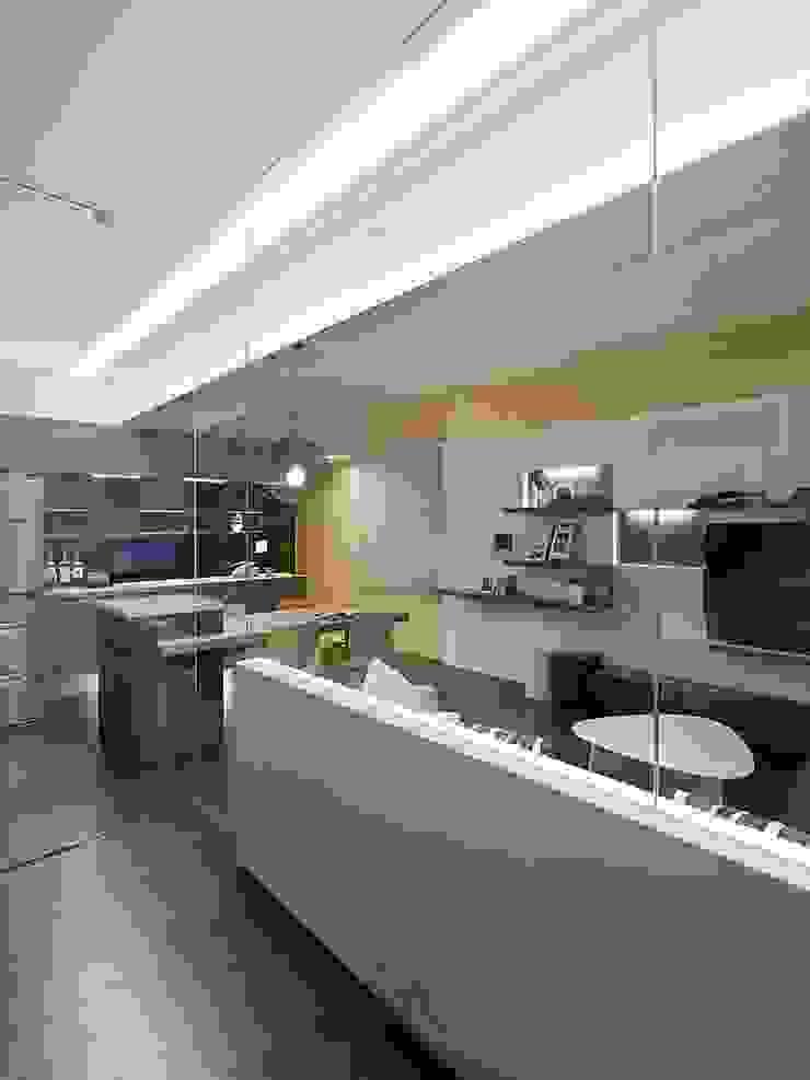 光源通透、無限放大的居家LOOK! 根據 禾光室內裝修設計 ─ Her Guang Design 現代風 玻璃