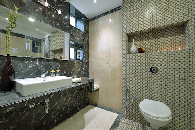 CUBE House Modern bathroom by SAGA Design Modern