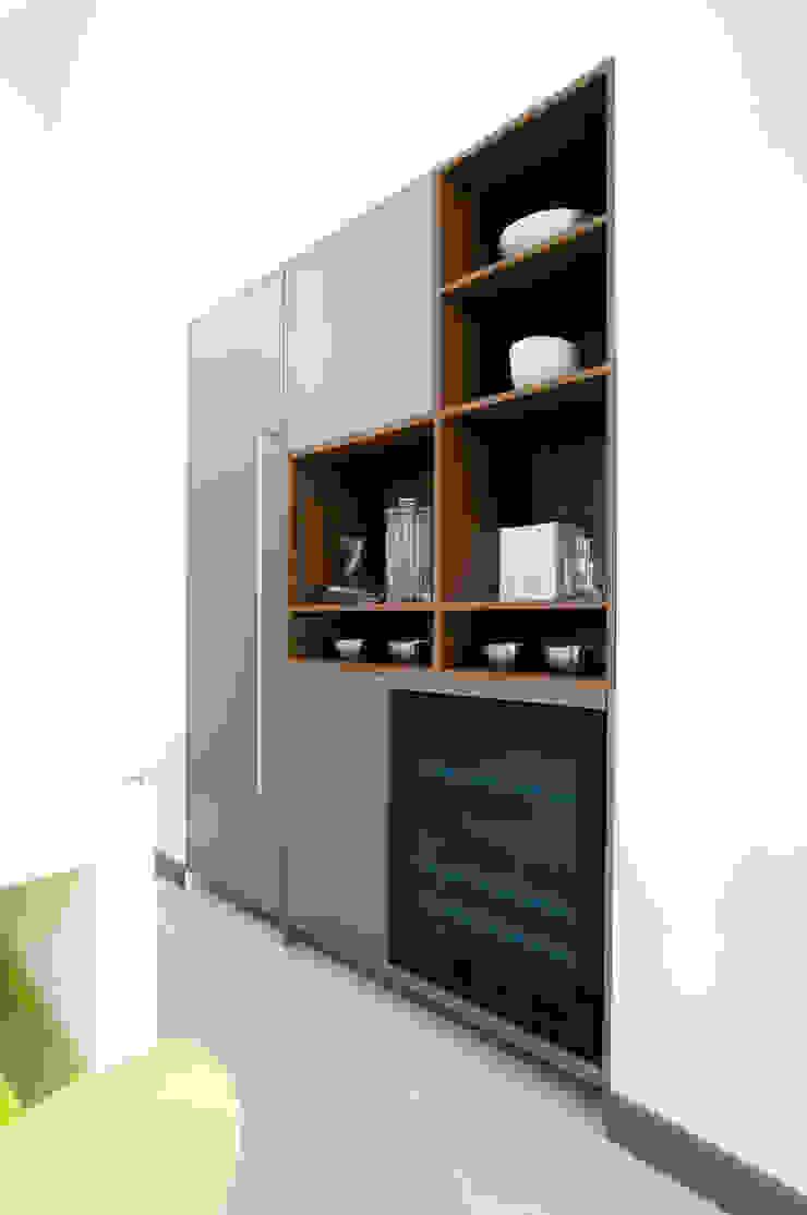 Pedini Arke Iron Grey & Elm Urban Myth Modern style kitchen Grey