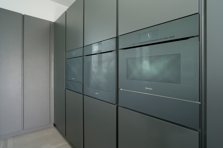 Pedini Arke Iron Grey & Elm Urban Myth Built-in kitchens Grey