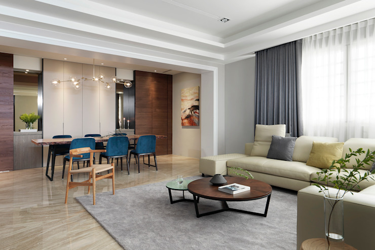 Ruang Keluarga Modern Oleh 夏沐森山設計整合 Modern