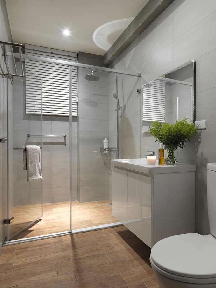 Under L 現代浴室設計點子、靈感&圖片 根據 夏沐森山設計整合 現代風