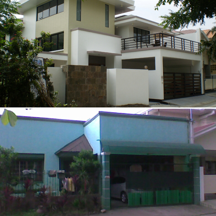 After Photo against Before Photo of Reconstructed HC-Residence by KDA Design + Architecture Tropical
