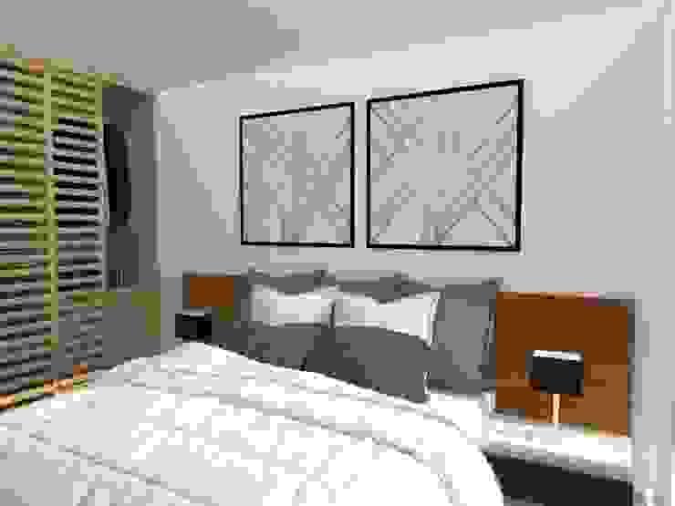 Recámara Principal 78metrosCuadrados Dormitorios escandinavos