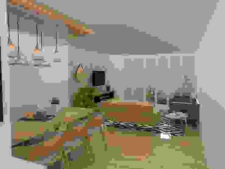 Vista general sala comedor Salas de estilo escandinavo de 78metrosCuadrados Escandinavo