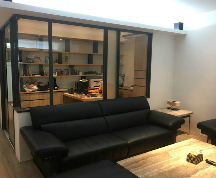 Salas de estar modernas por 捷士空間設計(省錢裝潢) Moderno