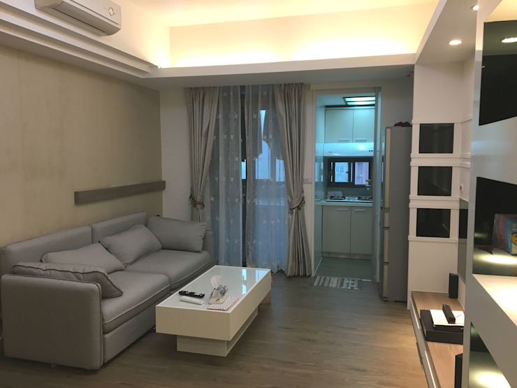 林口文化三路整修案 现代客厅設計點子、靈感 & 圖片 根據 捷士空間設計(省錢裝潢) 現代風