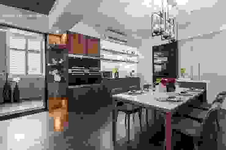 憶~追思:  餐廳 by 鼎士達室內裝修企劃, 現代風 實木 Multicolored
