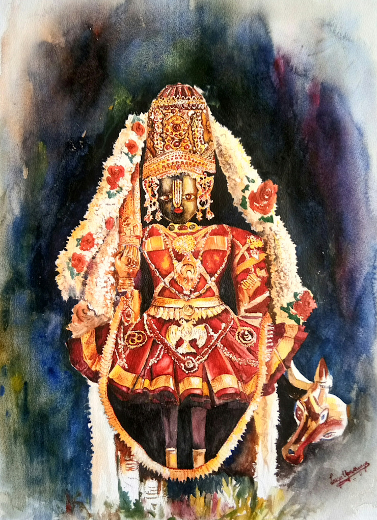 Udupi Shri Krishna Indian Art Ideas ArtworkPictures & paintings