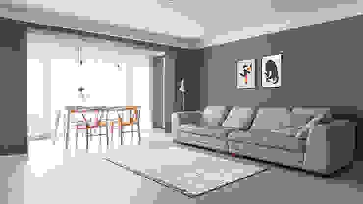 Salon de style  par husk design 허스크디자인, Moderne