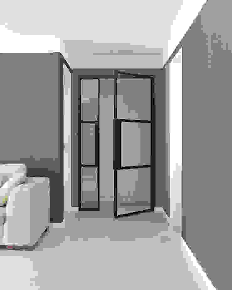 husk design 허스크디자인 Modern Corridor, Hallway and Staircase