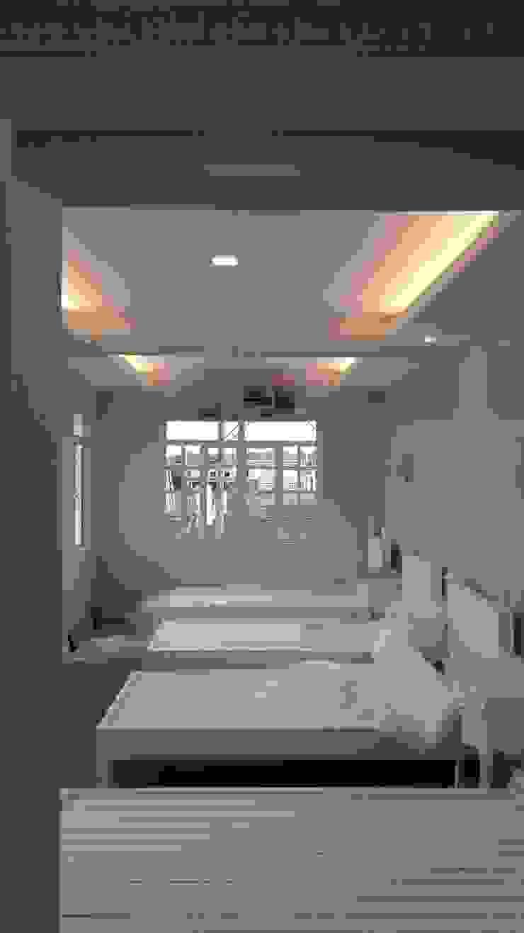 Modern Mediterranean Residence Modern style bedroom by E V Design + Architects Modern