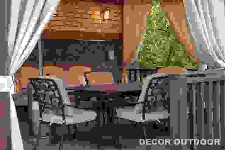 Уличные шторы от DECOR OUTDOOR Классический Текстиль Янтарный / Золотой