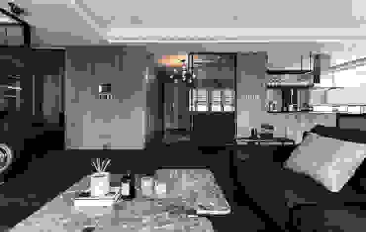 林口天地昕 现代客厅設計點子、靈感 & 圖片 根據 隱室設計 In situ interior design 現代風