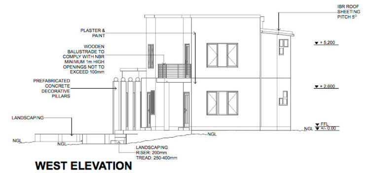 West Elevation by LINE Creative Interiors