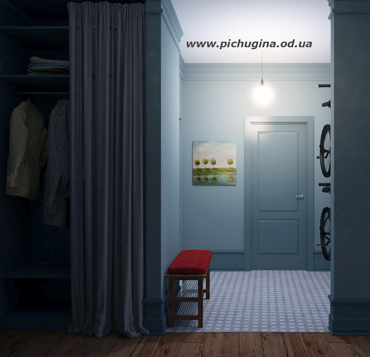 Pasillos, vestíbulos y escaleras de estilo ecléctico de Tatyana Pichugina Design Ecléctico