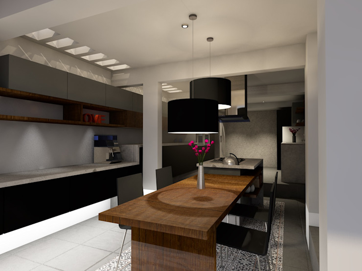 Diseño Cocina de A/K Arquitectura Moderno